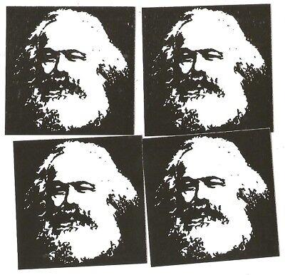 50x Karl Marx Aufkleber stickers Antifa SED DDR Communist Socialist Marxism RASH