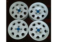 "GENUINE 15"" PEUGEOT 205 GTI SPEEDLINE ALLOY WHEELS SET X 4 RARE FITS SAXO 106"