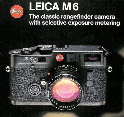 Инструкции и руководства 1984 LEICA M6