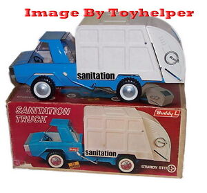 Buddy L Sanitation Trash Garbage Truck Vintage Rare NIB