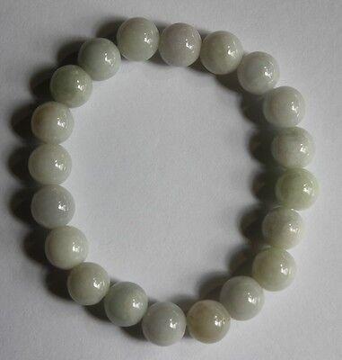 Genuine 100% Natural (Grade A) Untreated Light Green Jadeite JADE Bracelet #357