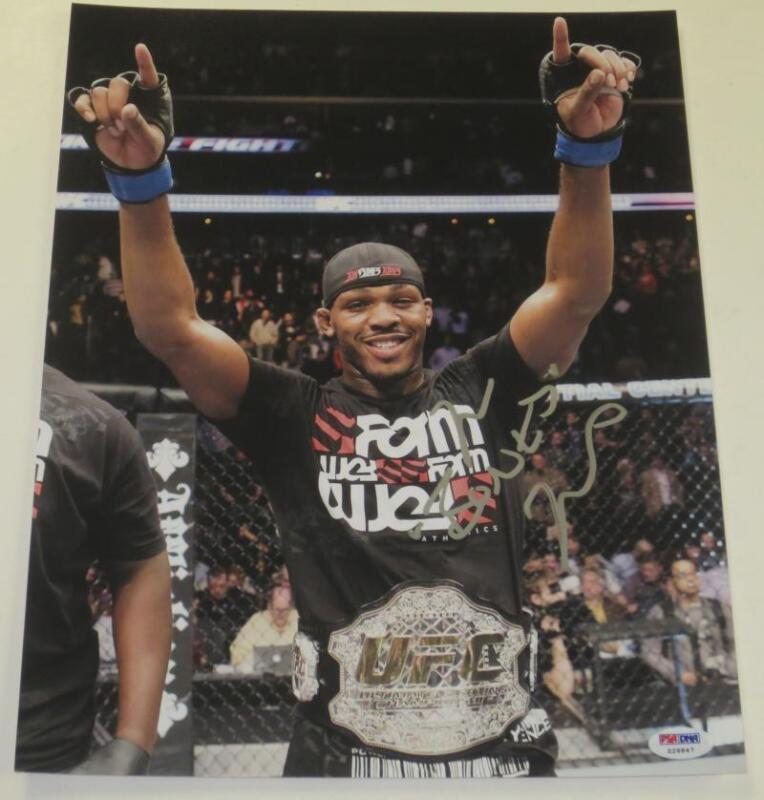 JON JONES SIGNED 11X14 PHOTO BONES MMA UFC CHAMPION AUTHENTIC AUTOGRAPH PSA/DNA