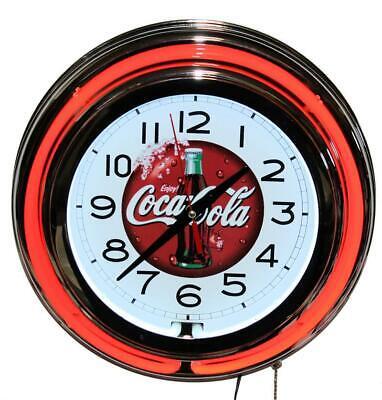 Lifestyle Lighting Coca Cola Red Double Neon Clock
