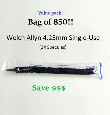 Welch Allyn Kleenspec 4.25mm Single-use Adult Specula 52434-u Save  Bag Of 850