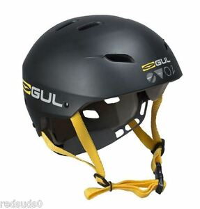 GUL EVO 2 MENS S/M WATERSPORTS CANOE KAYAK HELMET SPORTS PROTECTION BLK / YELLOW