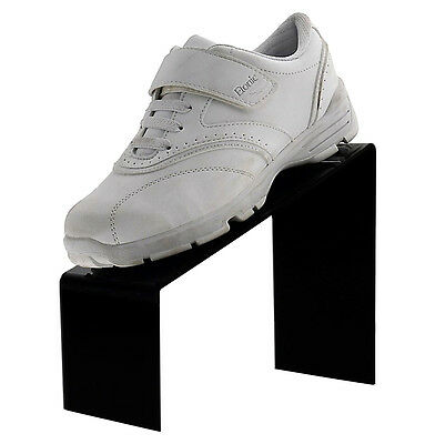 Black Slanted Shoe Acrylic Riser Display Holder Stand 9l X 4w X 7h