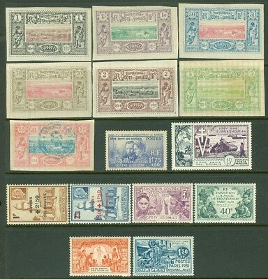 EDW1949SELL : SOMALI COAST Nice collect of 14 Mint & 1 Used Incl 135-38 Cat $126