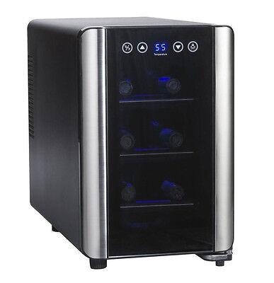 Wine Enthusiast Silent 6 Bottle Touchscreen Wine Refrigerator 2720307 New