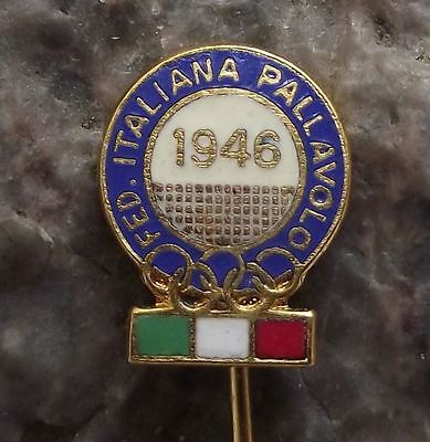Federazione Italiana Pallavolo FIPAV Italy Olympic Games Volleyball Pin Badge