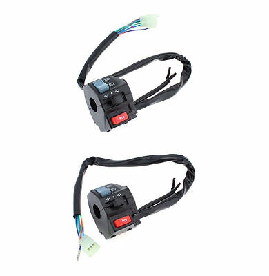 "2x 12V 7/8"" Motorcycle ATV Turn Signal Light Controller Electrical Start Switch"