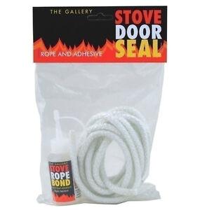 Gallery stove woodburner door rope seal kit includes rope for 14mm stove door rope