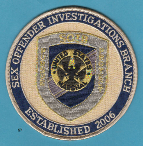 US MARSHAL SOIB SEX OFFENDER INVESTIGATIONS BRANCH POLICE SHOULDER  PATCH