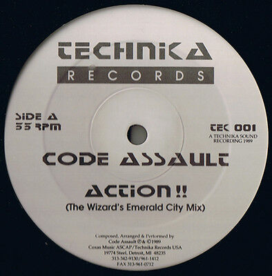 "12"" US**CODE AUSSAULT - ACTION!! (TECHNIKA RECORDS '89 / SEALED)***3063"