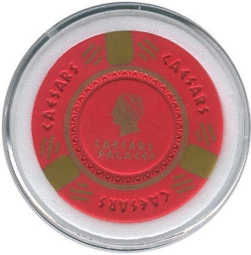 Caesars Palace Poker Chip Card Guard Casino Vegas Red