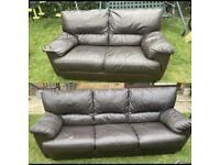 chocolate brown 2 and 3 seater sofa set can deliver