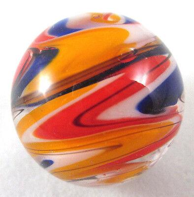 """25mm WURLITZER Handmade art glass red blue design Marbles ball Large 1"""" SHOOTER"""