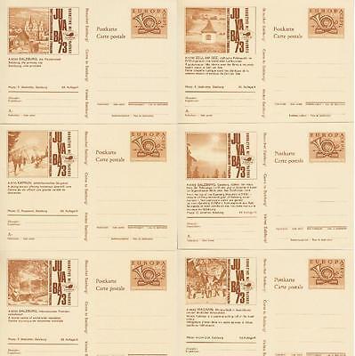 Österreich Juvaba alle Karten 1 - 16 **, komplettes Bild GA Set, postfrisch, MNH