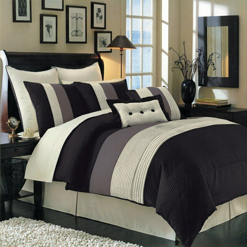 Hudson 12 Piece Luxury Bed In A Bag Comforter Set 3 Colors 4