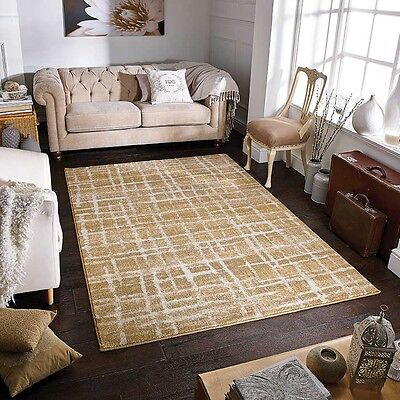 Zarah Modern Wilton Rugs Fashion Gold Crackle Distressed Abstract 160X235cm 1-J