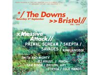 2 x massive attack on the downs tickets 3rd sept