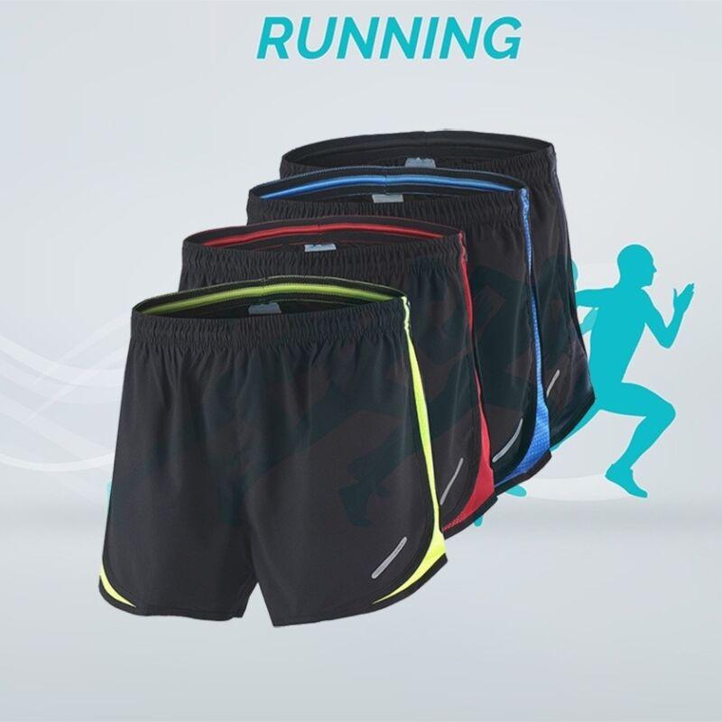 Men Summer Sports Marathon Running Shorts Training Athletic Shorts Breathable