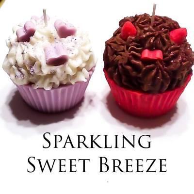 valentines day cupcake candles, highly scented, soy wax, home decor, gift - Valentines Decorating Ideas