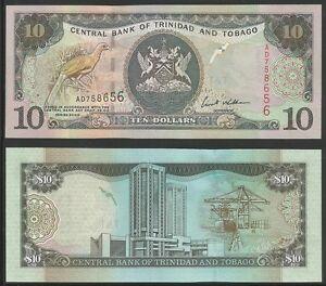 TRINIDAD-amp-TOBAGO-10-Dollars-2002-Pick-43b-UNC
