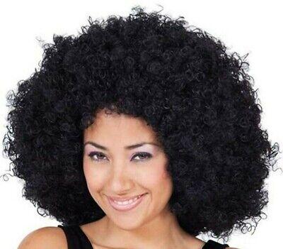 Mega Jumbo Afro Perücke schwarz Karneval Fasching Perücke Haare