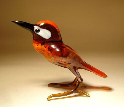 "Blown Glass Figurine ""Murano"" Art Bird WOODPECKER"