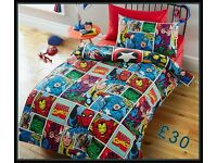 Marvel Comics Strike Duvet Set.