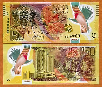 Trinidad and Tobago, 50 dollars, 2014, P-54, POLYMER, UNC > Commemorative