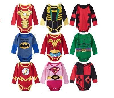 Baby Bodysuit Superhero body costume romper MARVEL & DC Universe for Boy & Girl (Superhero Costume For Boy)