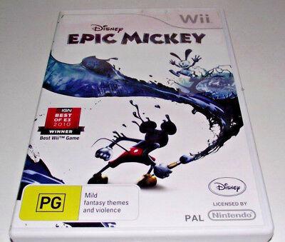 Disney Epic Mickey Nintendo Wii PAL *Complete* Wii U Compatible segunda mano  Embacar hacia Argentina