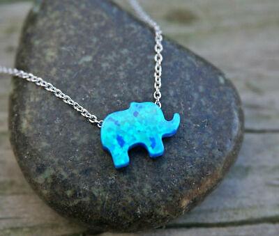Women Jewelry GF Pendant 925 Silver Gold Heart Elephant Opal Chain (Heart Pendant Silver Jewelry)