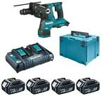 Makita DHR281PT4J (2x18V) SDS-plus combihamer set (4x5Ah) in