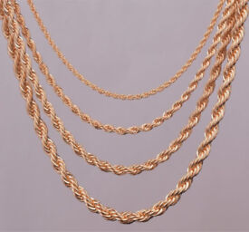 Gold Plated Rope Chains.