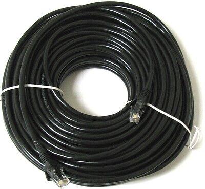 50m Network Ethernet Cable Cat5e Black External Outdoor LAN PC Router Modem...
