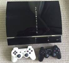 Playstation 3 PS3 60Gb Backwards Compatible 2 Controllers 6 Games Subiaco Subiaco Area Preview