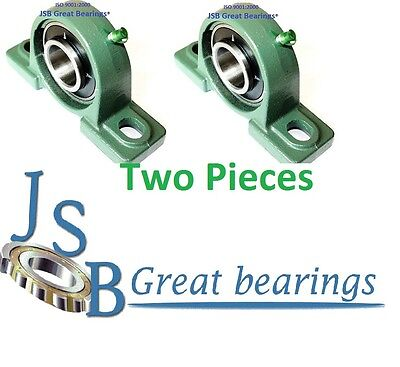 Qty 2 1-12 Ucp208-24 Pillow Block Bearing With Cast Iron Housing Ucp 208