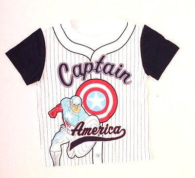 Marvel Captain America Toddler Baseball T-shirt Size 3T