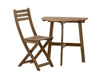 Ikea outdoor table and chairs, small perfect for balcony + 2 chairs