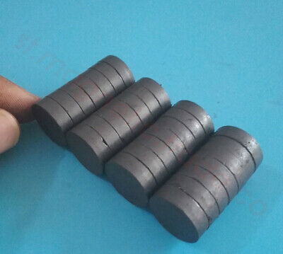 Wholesale 18mm X 5mm Strong Round Disc Magnet Ferrite Y30bh Black Magnets