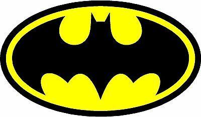 Diecut Vinyl BATMAN LOGO Decal Sticker Gift Laptop Comic Dark Knight Colored