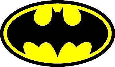 2x BATMAN LOGO DECAL STICKER 5.6