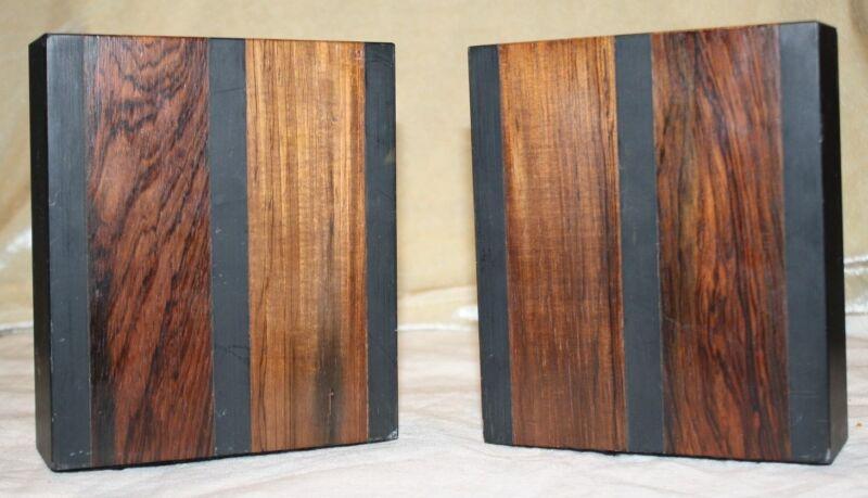 Paul Evans & Phillip Lloyd Powell Mid Century Modern 1970s Wood & Slate Bookends