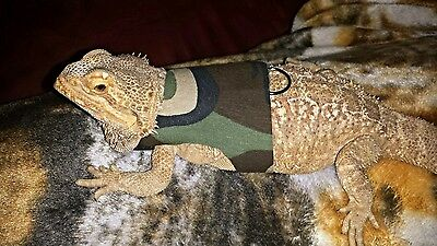 Lil' Bestie Bearded Dragon reptile Harness and Leash CAMOUFLAGE