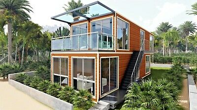 40ft X 4 Luxury Duplex Shipping Container Home 2bd2bth 640sqft2fin Avail