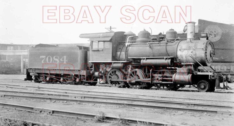 8H553 JUNK NEG/RP 1930s/40s SOUTHERN RAILROAD 2-6-0 LOCO #7084