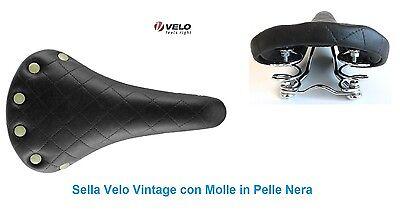 2056 Sella Velo Vintage Marrone con Borchie per bici 26-28 Tipo Condorino