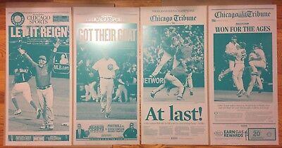 Set Of 4 Chicago Cubs World Series Champion Chicago Tribune Press Plates